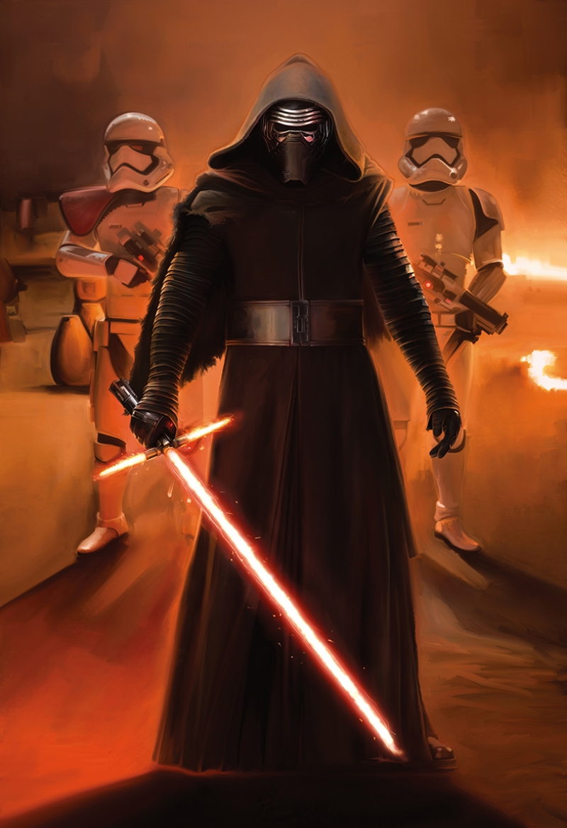 Kylo Ren Troopers Star Wars Kanvas Tablo