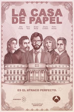 La Casa De Papel Poster Kanvas Tablo
