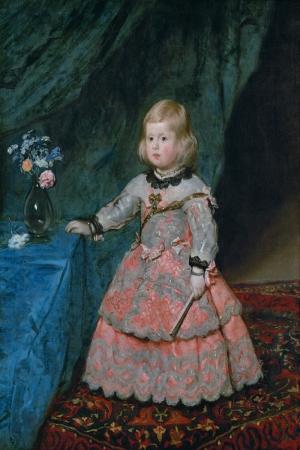 La Infanta de Espana Dona Margarita Teresa de Austria Diego de Velazquez Klasik Sanat Kanvas Tablo