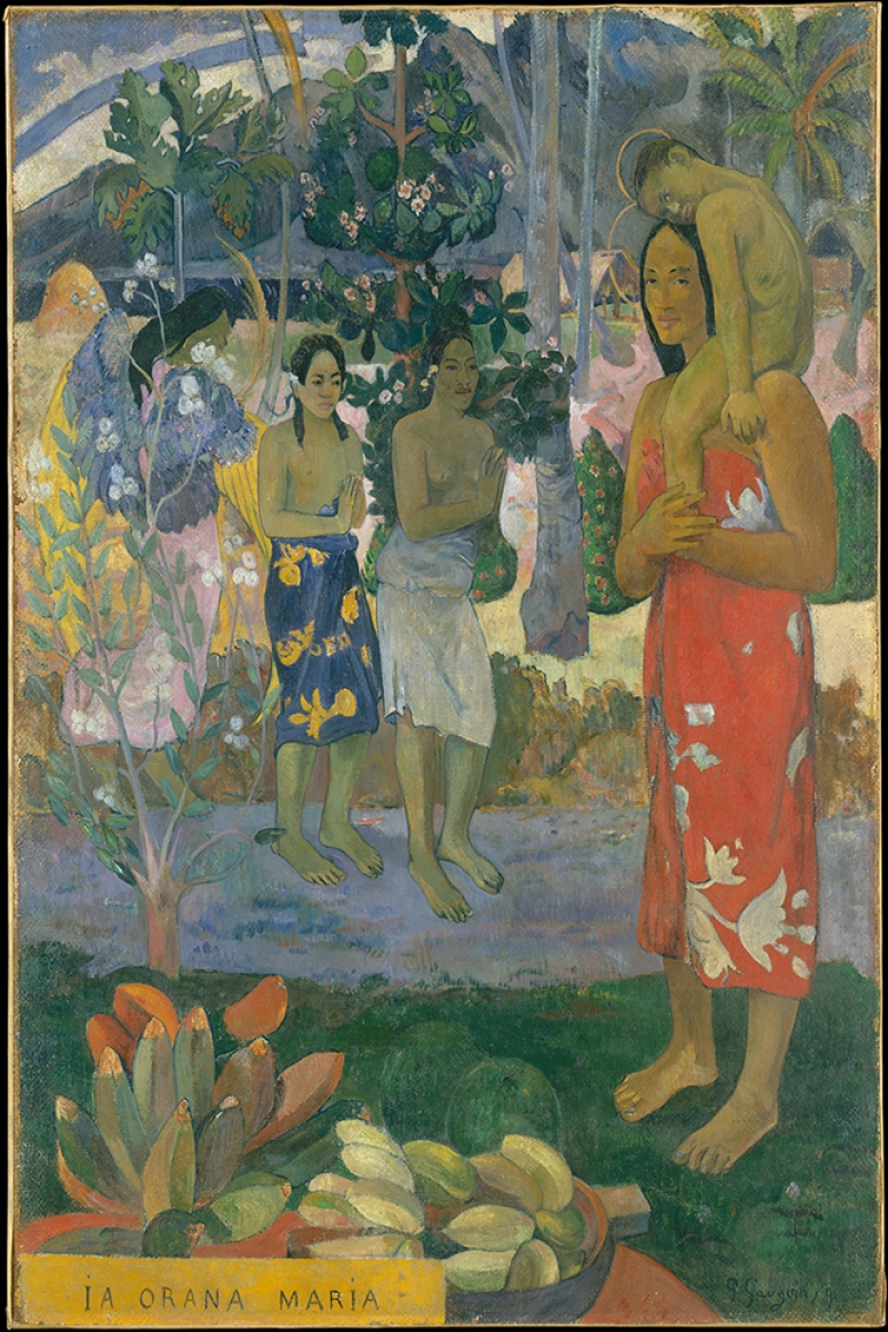 La Orana Maria Hail Mary Paul Gauguin Reproduksiyon Kanvas Tablo