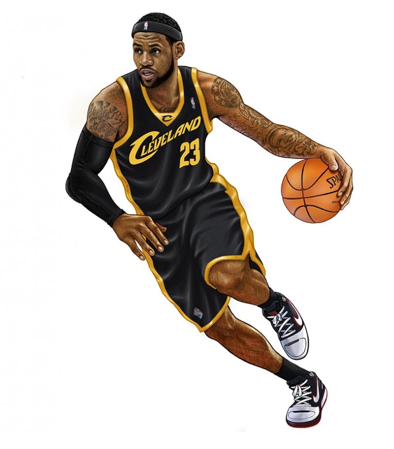 Lebron James İllustrasyon Basketbol Spor Kanvas TabloLebron