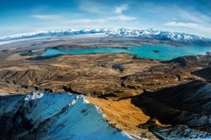 Lake Tekapo Adası Yeni Zelanda Doğa Manzaraları Kanvas Tablo