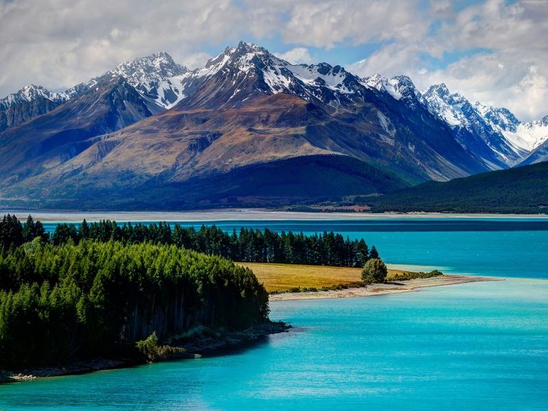 Lake Tekapo Yeni Zelanda Doğa Manzaraları Kanvas Tablo