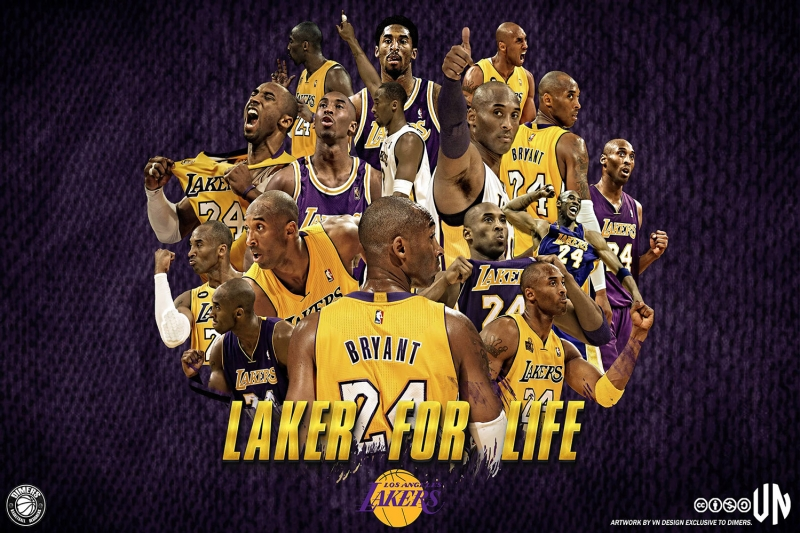 Lakers For Life Nba Kanvas Tablo