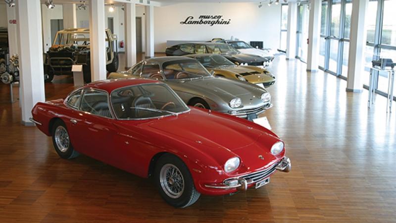 Lamborghini 350 GT Miura Müzesi Spor Klasik Otomobil Kanvas Tablo