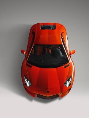 Lamborghini Aventador 2 Spor Otomobil Kırmızı Kanvas Tablo