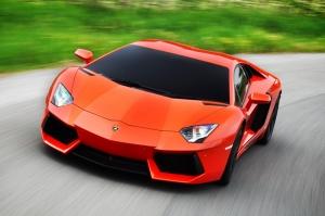 Lamborghini Aventador Roadster Spor Otomobil Turuncu Kanvas Tablo