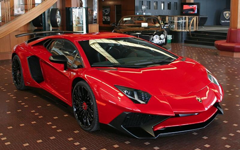 Lamborghini Aventador SV Spor Otomobil Kırmızı Kanvas Tablo