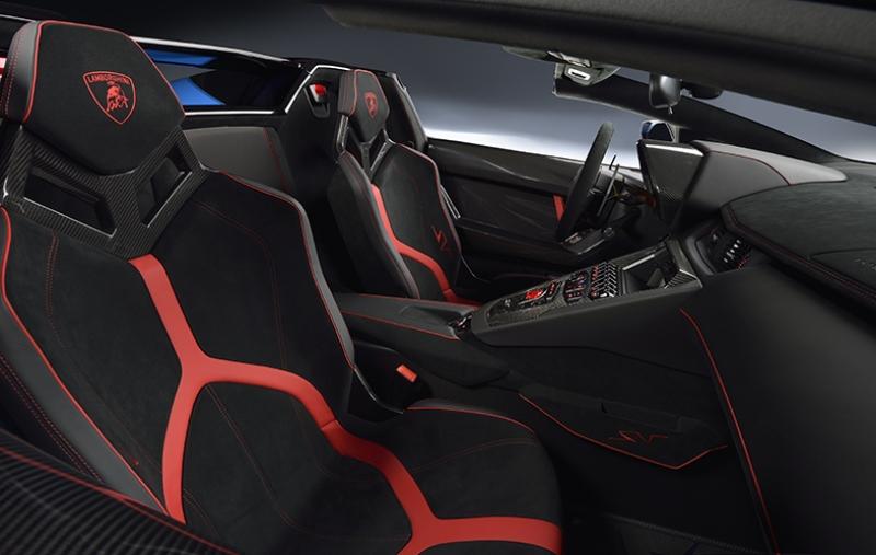 Lamborghini Aventador SV Roadster İç Dizayn Otomobil Araçlar Kanvas Tablo
