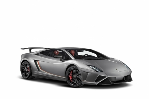 Lamborghini Gallardo Spor Otomobil Gri Kanvas Tablo