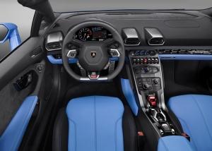 Lamborghini Huracan LP610 Spyder Kokpit Otomobil Araçlar Kanvas Tablo