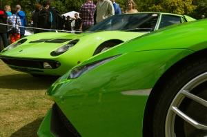 Lamborghini Miura ve Huracan Otomobil Araçlar Kanvas Tablo
