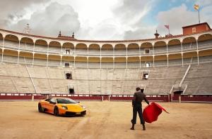 Lamborghini Murcielago Sv ve Matador Araçlar Kanvas Tablo