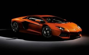 Lamborghini New Aventador Spor Otomobil Turuncu Kanvas Tablo