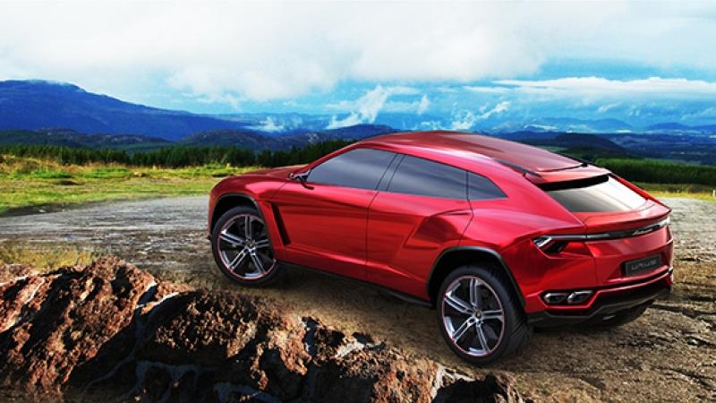 Lamborghini Urus Suv Jip Spor Otomobil Kırmızı Kanvas Tablo