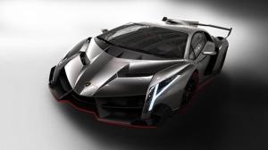 Lamborghini Venono Gri Spor Otomobil-3 Kanvas Tablo