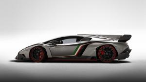 Lamborghini Venono Gri Spor Otomobil-4 Kanvas Tablo