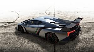 Lamborghini Venono Gri Spor Otomobil-5 Kanvas Tablo