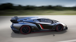 Lamborghini Venono Gri Spor Otomobil-6 Kanvas Tablo
