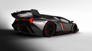 Lamborghini Venono Gri Spor Otomobil Kanvas Tablo