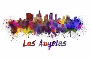 Los Angeles İllustrasyon Dünyaca Ünlü Şehirler Kanvas Tablo