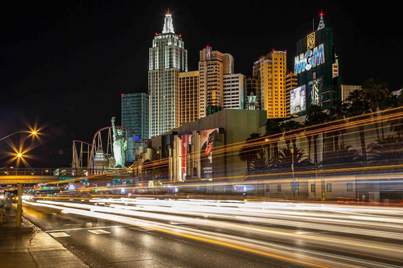 Las Vegas Gece Işıklar Dünyaca Ünlü Şehirler Kanvas Tablo
