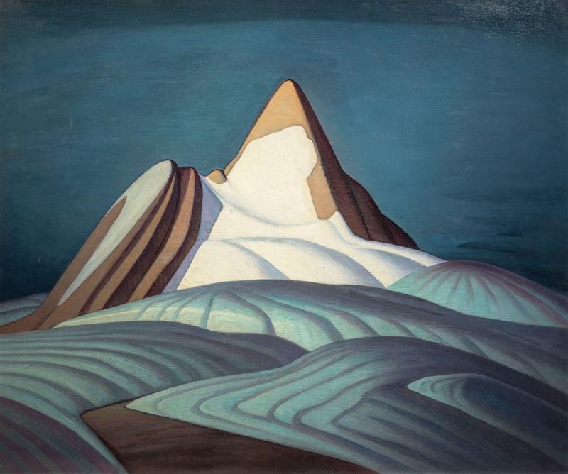 Lawren Harris Kayalik Karlı Dağ Yağlı Boya Klasik Sanat Kanvas Tablo