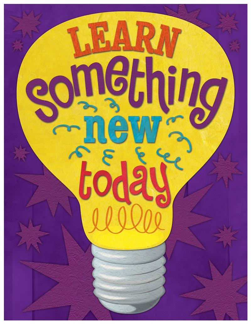 Learn Something Learn Today Motivasyon Retro & Motto Kanvas Tablo