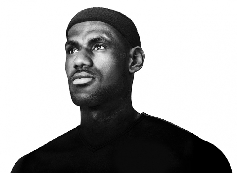 Lebron James Basketbol Siyah Beyaz Kanvas Tablo