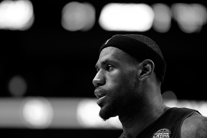 Lebron James Nba Basketbol Siyah Beyaz Kanvas Tablo
