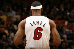 Lebron James Nba Miami Heat Kanvas Tablo