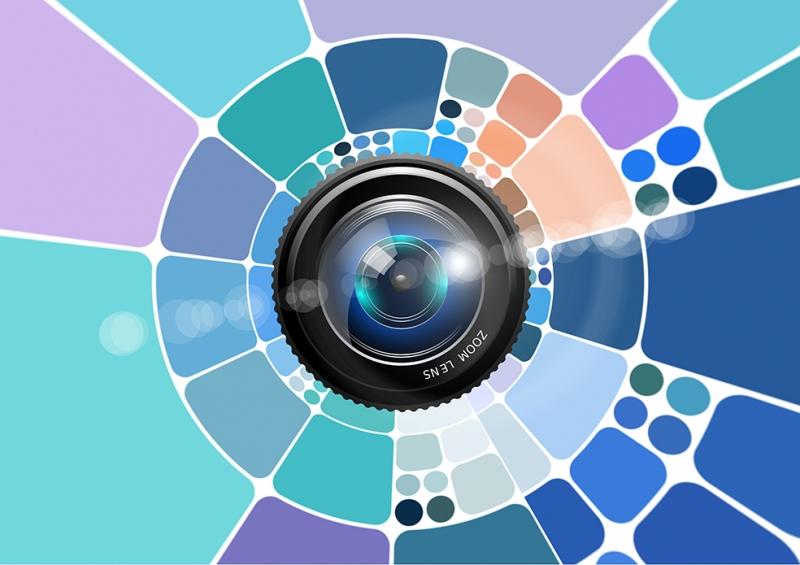 Lens Abstract Dijital ve Fantastik Kanvas Tablo