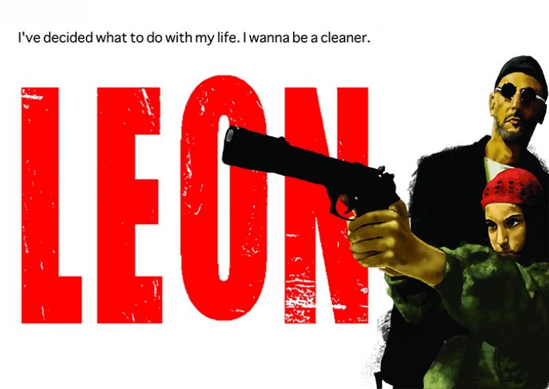 Leon Afiş Kanvas Tablo 2