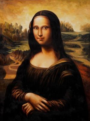 Leonardo Da Vinci Mona Liza Yağlı Boya Klasik Sanat Kanvas Tablo