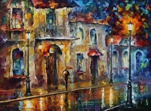 Leonid Afremov Yağlı Boya Sanat Kanvas Tablo