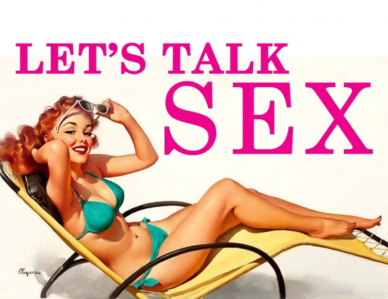 Lets Talk Sex Popüler Kültür Kanvas Tablo