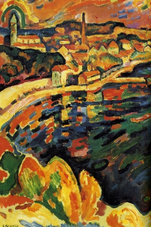 Liman Le Port De L Estaque-1906 Georges Braque Reproduksiyon Kanvas Tablo