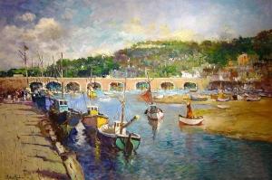 Liman, Tekneler Doğa Şehir Manzarası Kanvas Tablo