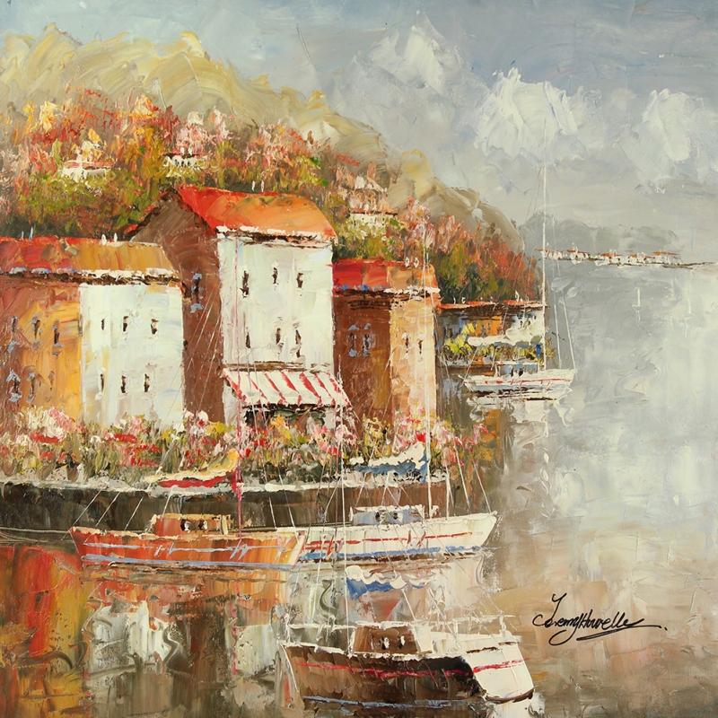 Limandaki Balıkçı Tekneleri 12 Dekoratif Kanvas Tablo