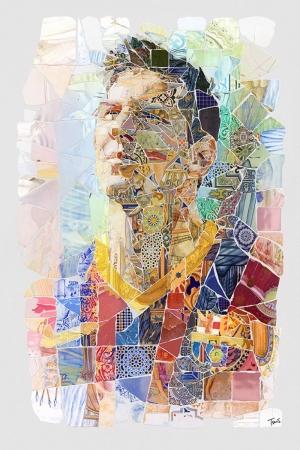 Lionel Messi-2 Mozaik İllustrasyon Kanvas Tablo