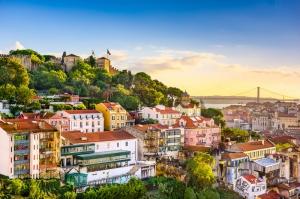 Lisbon Portekiz Sehir Manzarasi Yagli Boya Sanat Kanvas Tablo