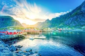 Lofoten Norveç Doğa Manzaraları Kanvas Tablo