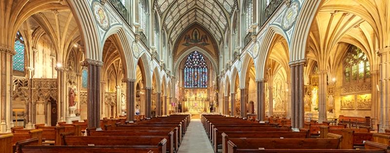 Londra'dan Bir Kilise Dini & İnanç Kanvas Tablo