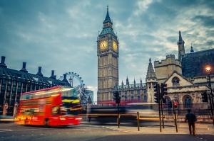 Londra Gece Big Ben Saat Kulesi Dünyaca Ünlü Şehirler Kanvas Tablo