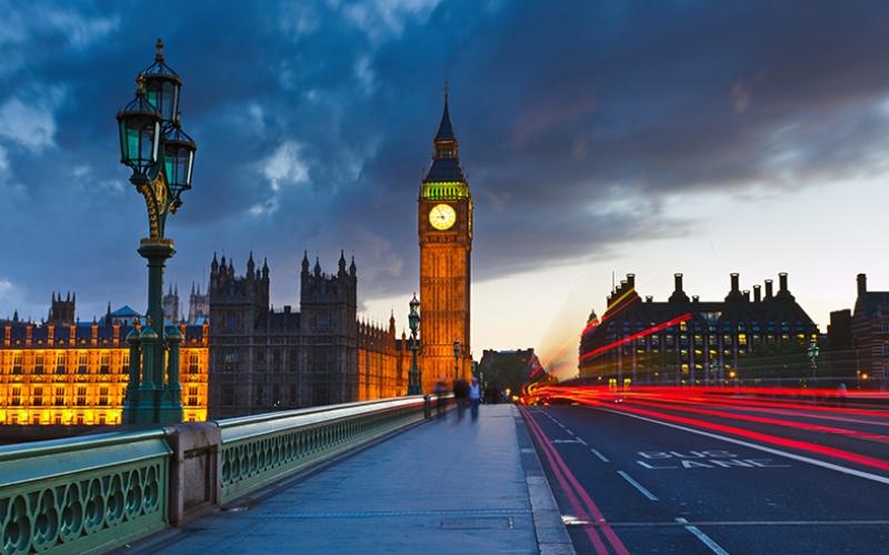 Londra Gece Köprü Dünyaca Ünlü Şehirler Kanvas Tablo