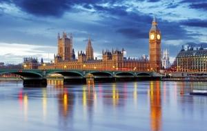 Londra Gece Manzarası Dünyaca Ünlü Şehirler Kanvas Tablo
