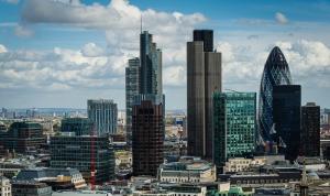 Londra Gökdelen Manzarası Dünyaca Ünlü Şehirler Kanvas Tablo