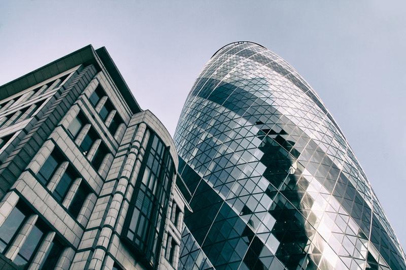 Londra Gökdelenler Şehir Manzarası Dünyaca Ünlü Şehirler Kanvas Tablo