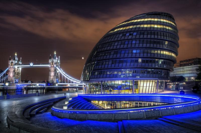 Londra İngiltere Şehir Manzarası Yeni Binalar-3 Dünyaca Ünlü Şehirler Kanvas Tablo