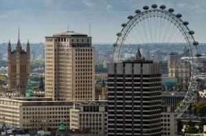 Londra Manzarası Dünyaca Ünlü Şehirler Kanvas Tablo